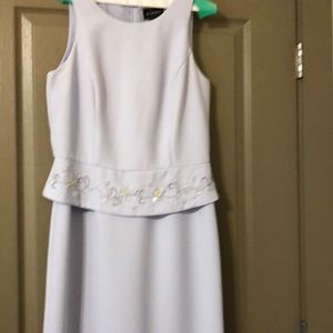 Virgo Designer dress with jacket, 10, sleeveless